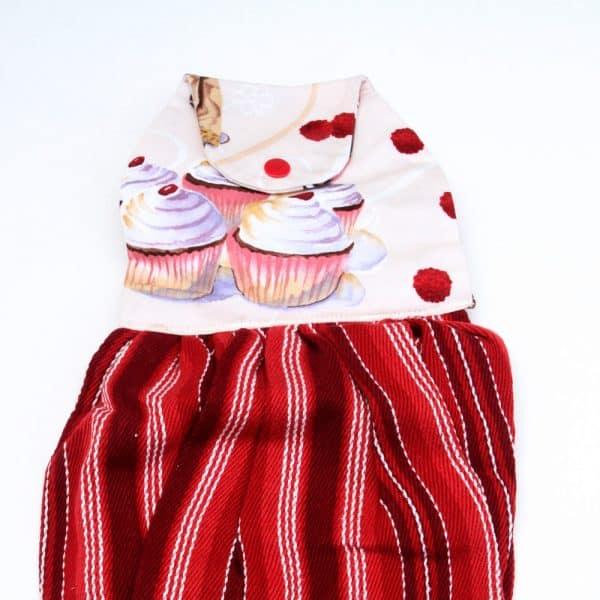 Cupcake Hanging Dishtowel