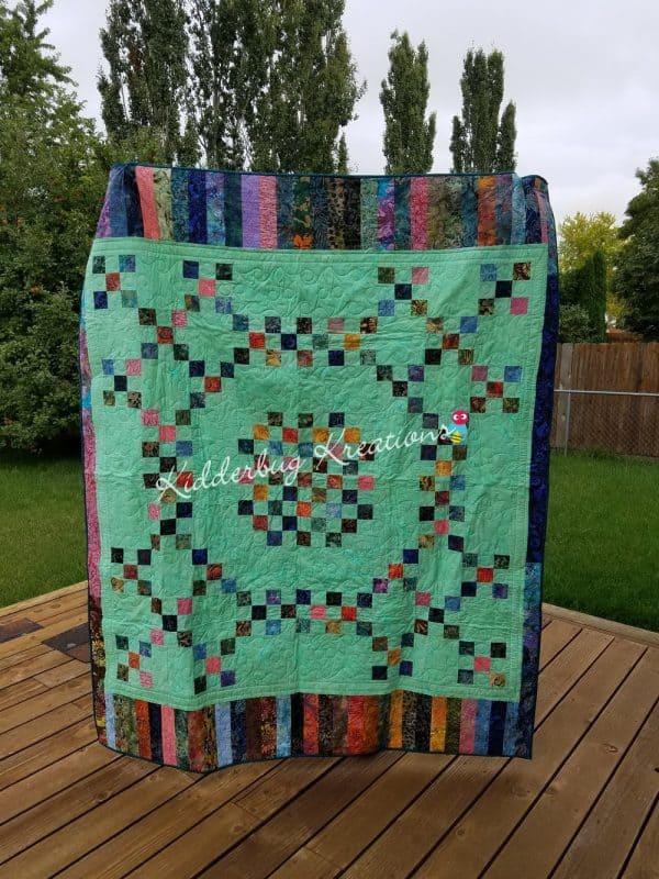 9 Patch Batik Quilt