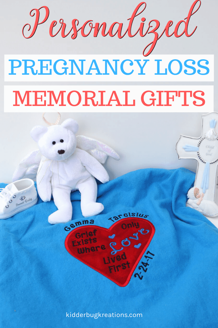 An infant loss gift that will bring comfort to the grieving family. This handcrafted gift idea for pregnancy loss gives grieving parents something to hold. Thoughtful miscarriage gifts and pregnancy loss gifts. Shop kidderbugkreations.com a large selection of sympathy gifts for loss. #kidderbugkreations #handcrafted #giftidea #personalized #customgifts  loved one in heaven quotes, memory pillow from shirt