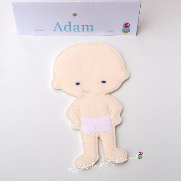 Adam Non-paper Doll