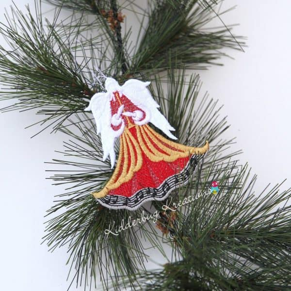Musical Angel Lace Ornament