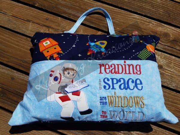 Astronaut Reading Pillow