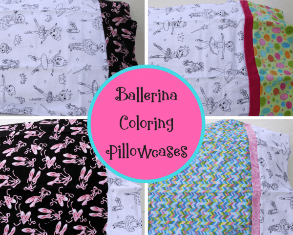Ballerina Coloring Pillowcase