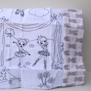 Ballerina Coloring Travel Pillowcase