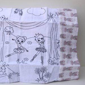 Ballerina Coloring Travel Pillowcase