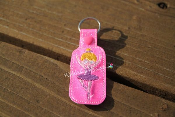 keychain ballerina rectangle, zipper pull, backpack tag, key fob