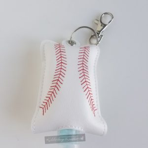 Baseball hand sanitizer case
