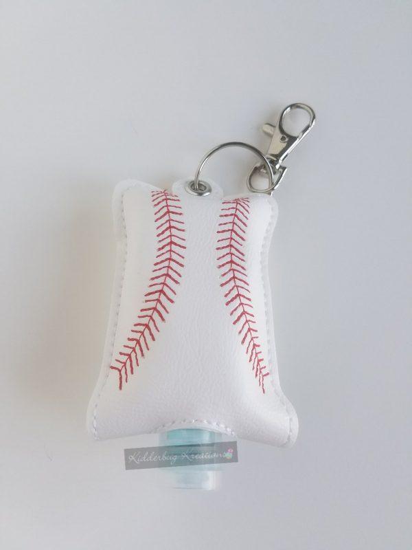 Baseball hand sanitizer case