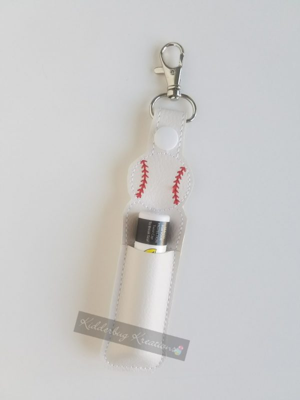 Baseball lip balm holder