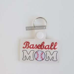 Baseball mom  keychain
