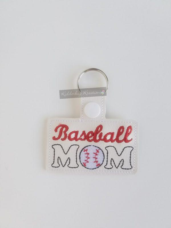 Baseball mom  keychain