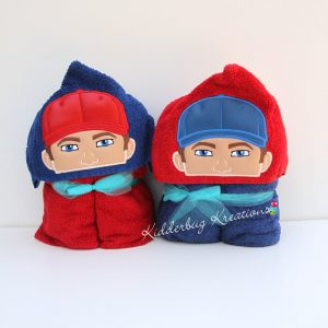 Baseball Player Hooded Towel