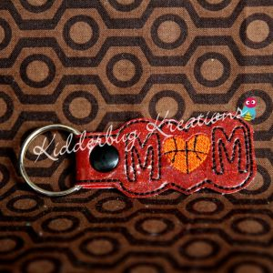 keychain basketball mom, zipper pull, backpack tag, key fob