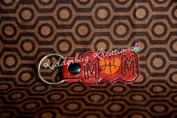 keychain basketball mom, zipper pull, backpack tag, key fob
