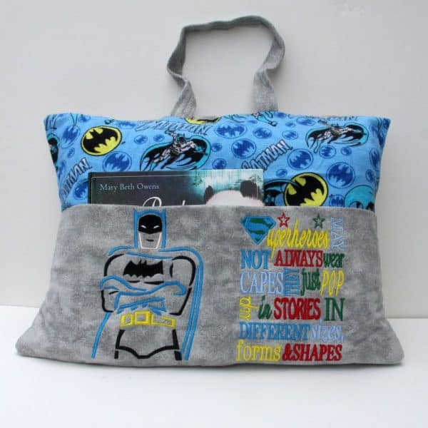 Bat Hero Reading Pillow