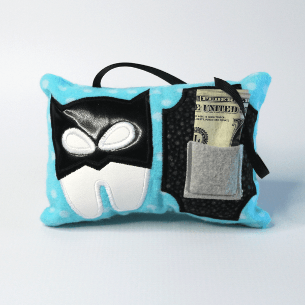Bat Hero Tooth Fairy Pillow