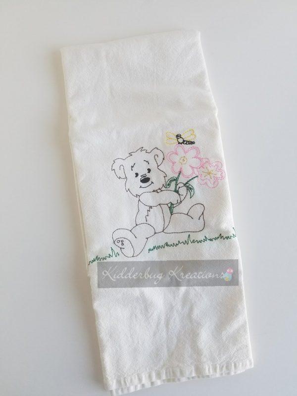 Bear Coloring Dishtowel