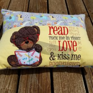 Bear Read Me a Story Reading Pillow