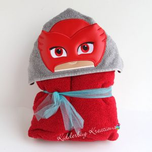 Bedtime Owl Hooded Towel