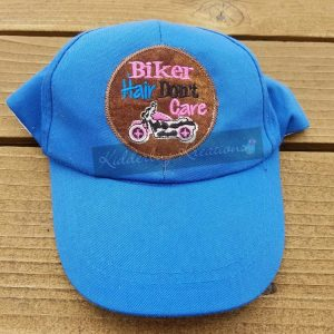 hat-biker hair