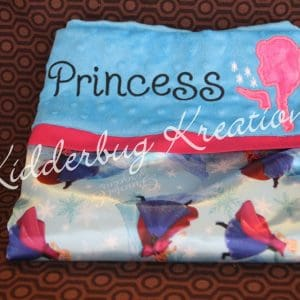 Blue Satin Princess Pillowcase