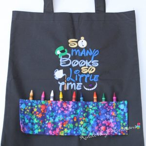 So Many Books Coloring Bag