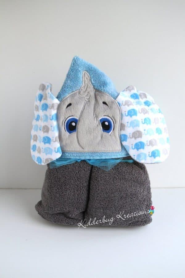 Boy Elephant Hooded Towel