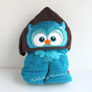 Boy Owl Hooded Towel