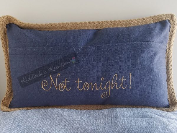 Tonight/Not Tonight Pillow