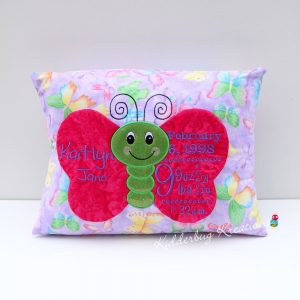 Butterfly Birth Announcement Pillow