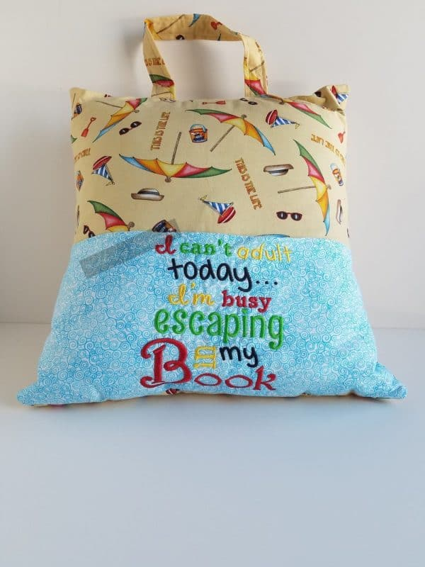 """I Can't Adult Today"" Reading Pillow"