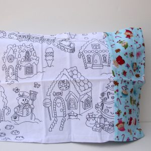 Christmas Coloring Travel Pillowcase