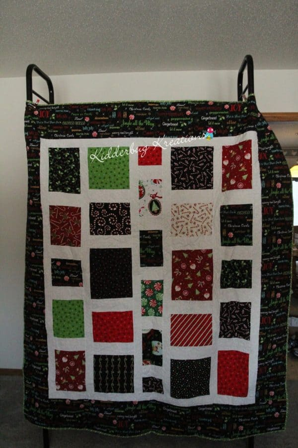 Christmas Words Quilt