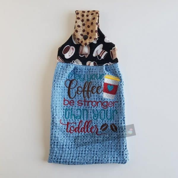 Coffee and Toddler Dishtowel