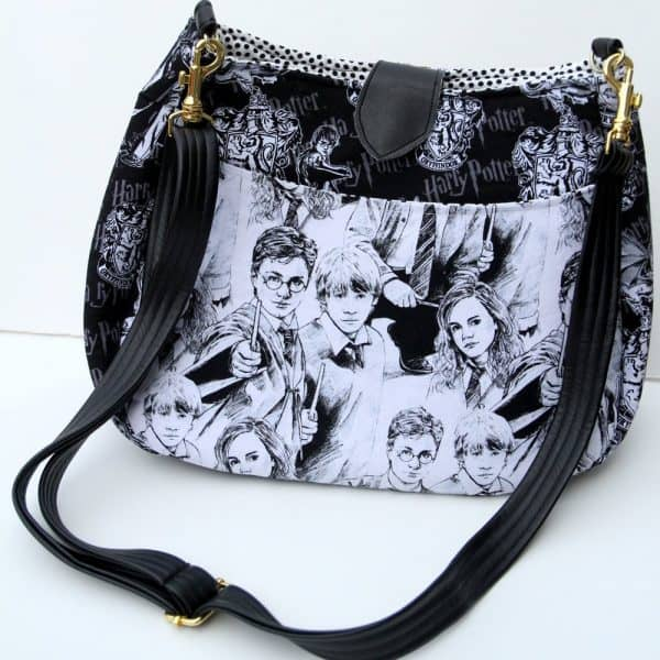 Crossbody Harry Potter Fabric Purse with Strap Closure