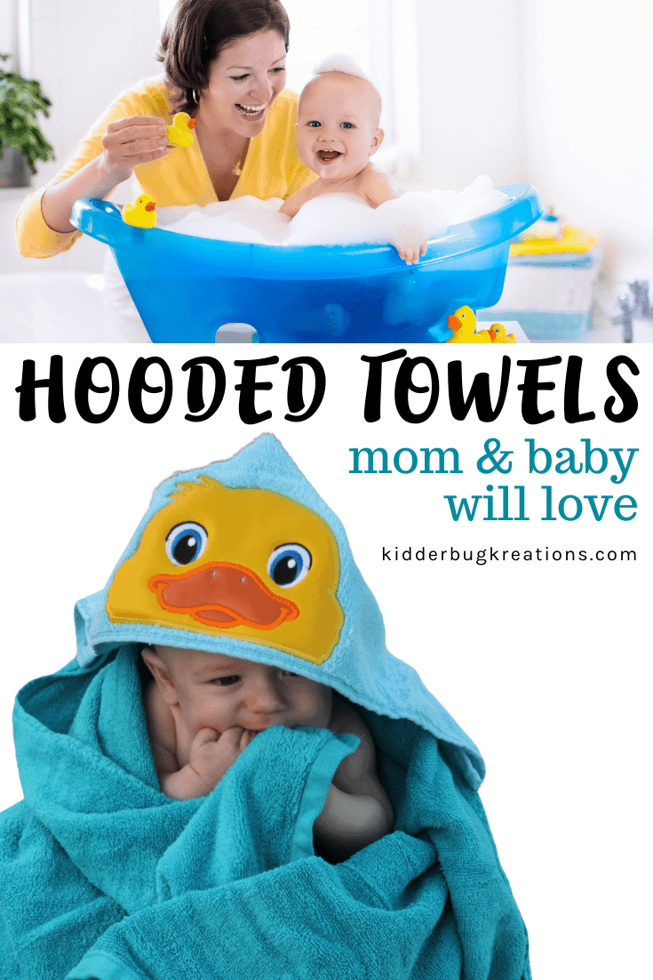 Duck Embroidered Hooded Towel