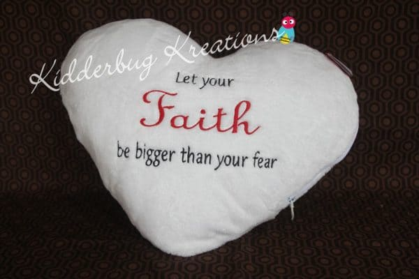 """Let Your Faith be Bigger Than Your Fear"" Pillow"