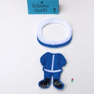 Eskimo non paper doll costume