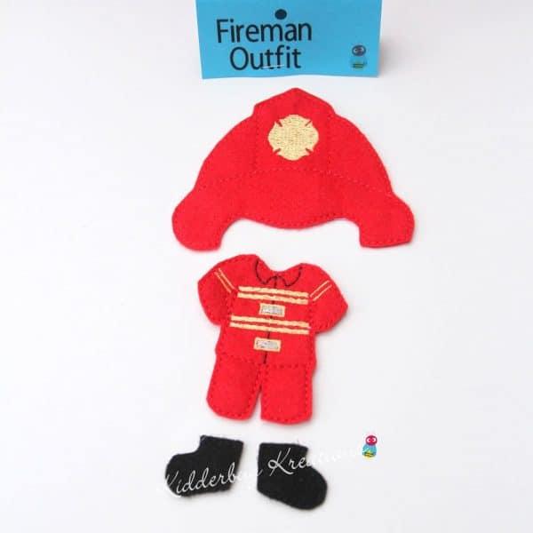 Fireman non paper doll costume