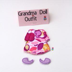 Grandma non paper doll costume