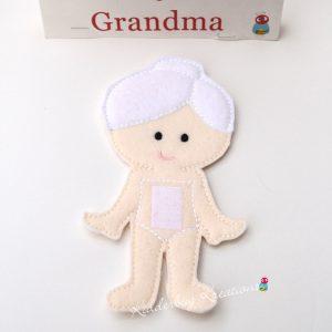 Grandma non paper doll