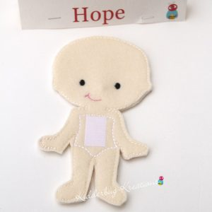 Hope non paper doll