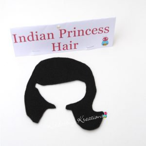 Indian princess non paper doll hair