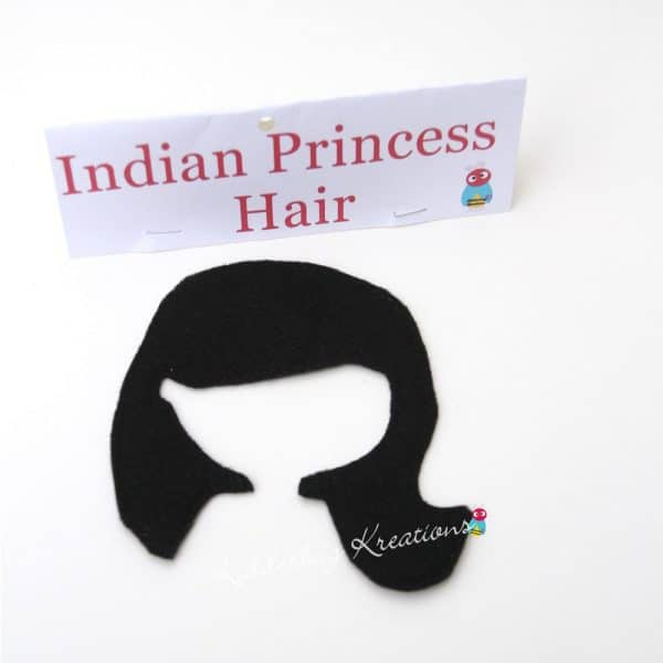 Indian princess non paper doll hair