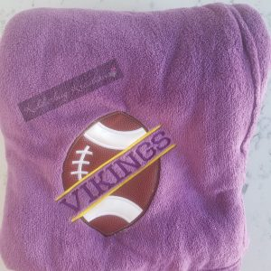 Blanket With a Split Football -Vikings