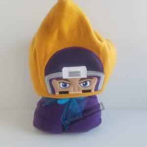 Hooded Blanket Football Player With Purple Helmet