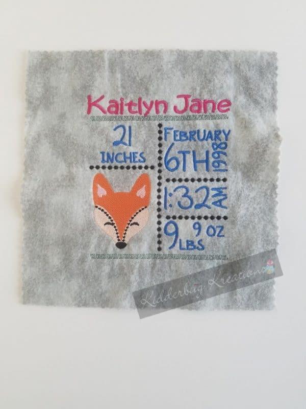 Fox birth stats announcement