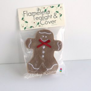 Gingerbread boy tea light