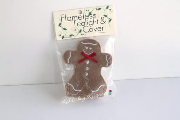 Gingerbread boy tea light