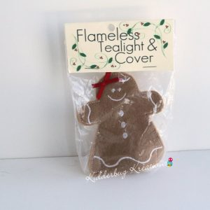 Gingerbread girl tea light